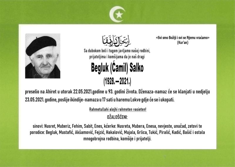 Preminuo je Salko Begluk