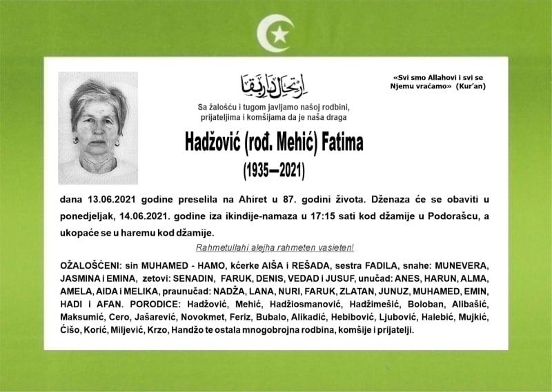 Hadžović Fatima