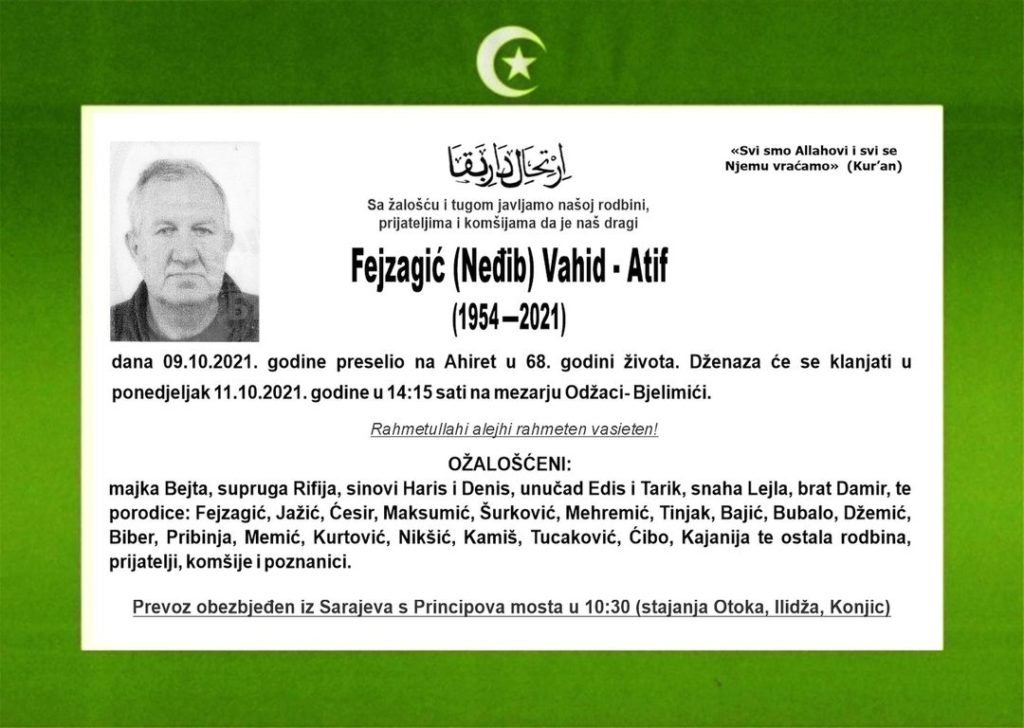 Fejzagić Vahid - Atif